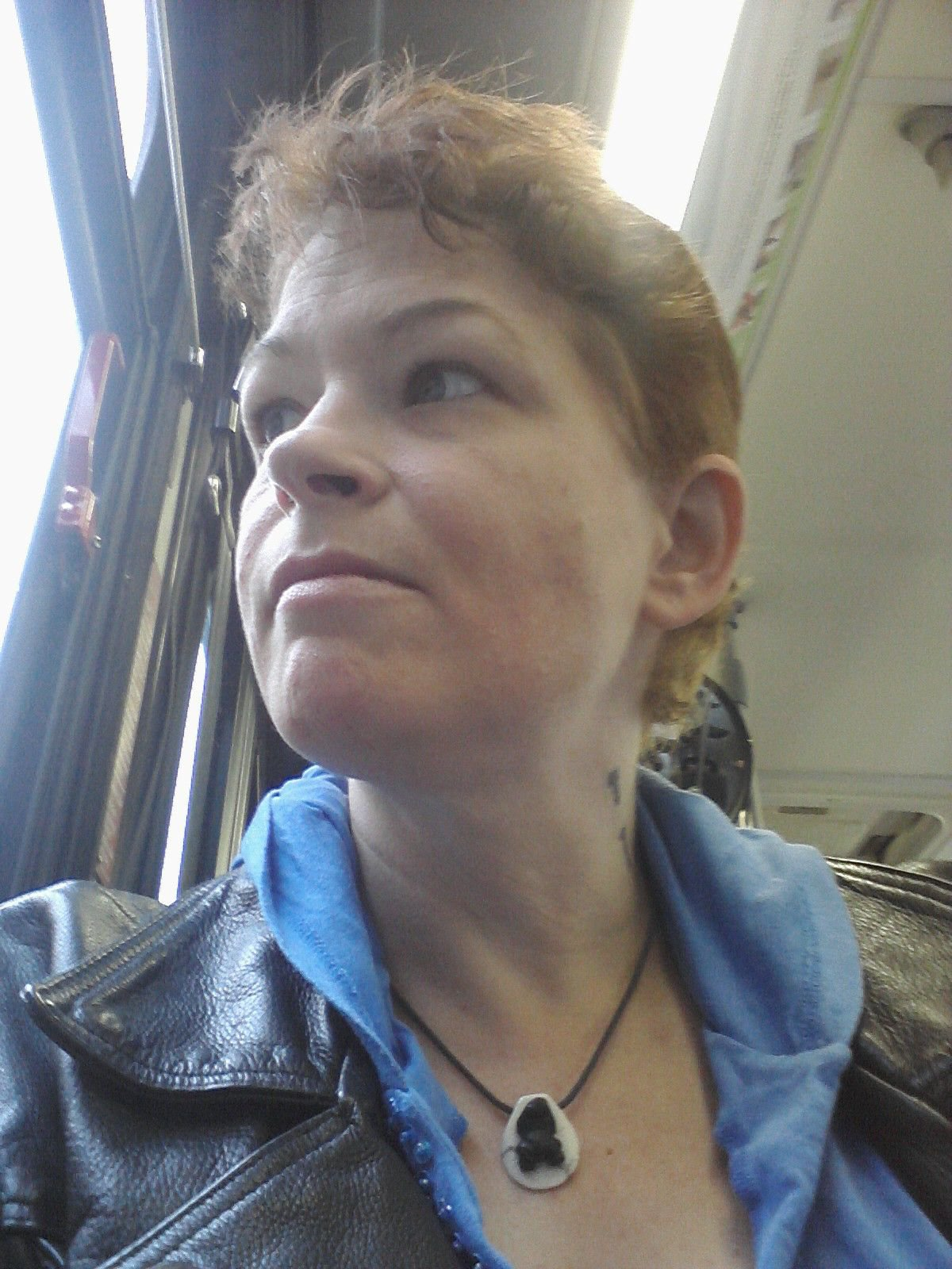Me Riding on the bus to my appointment at the UWMC